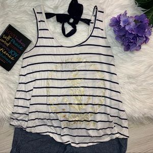 Annabelle Tops - ❤️Anabelle  White and Blue sleeveless stripes top